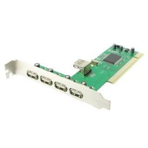 4World USB 2.0 5port (4+1) PCI - přídavné porty